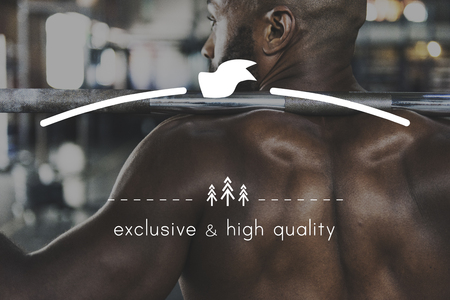 Strength Fitness Exercise Get FIt High Quality Brand Copy Space Stock Photo