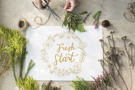 Fresh Start Living Your Life to the Fullest Reklamní fotografie