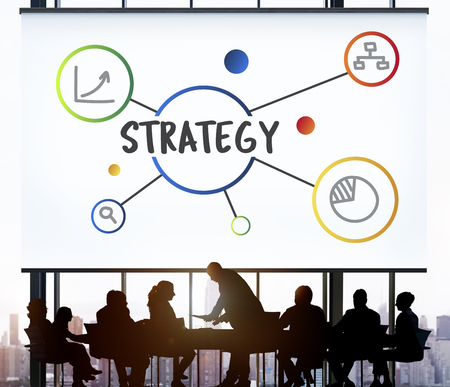 Business Plan Strategy Operation Process Concept Banco de Imagens