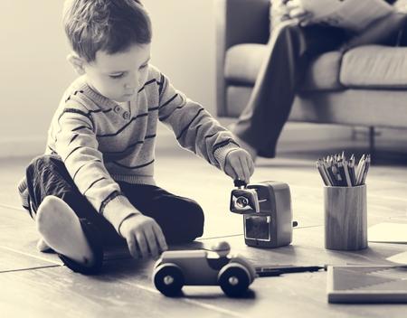 supervise: Family Love Parents Supervise Little Children Stock Photo