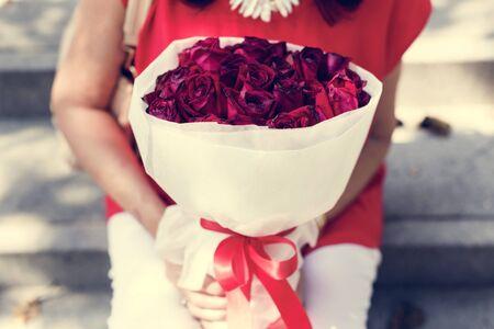 Valentine Rose Bouquet Romantic Happy