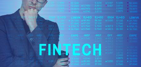 Global Business Accounting Fintech Marketing Stock Photo