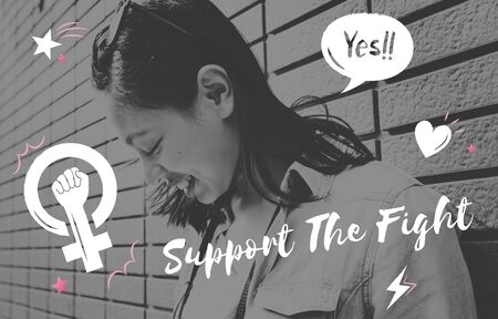 Support the fight gender feminism graphic