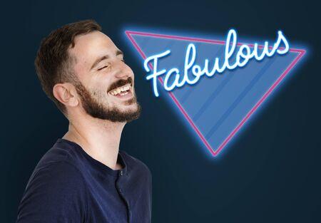 Fabulous Awesome Amazing Triangle Graphic Stock Photo