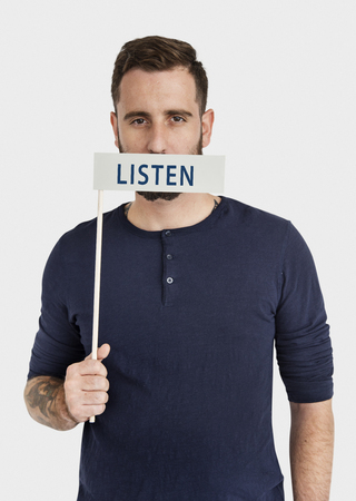 Listen Communication Attention Word Concept