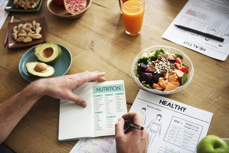 Person with healthy diet planning
