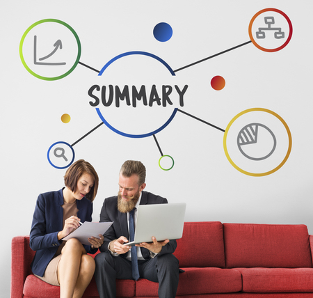 Business Summary Message Idea Concept Stockfoto