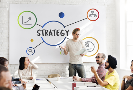 Business Plan Strategy Operation Process Concept Stok Fotoğraf - 79314142
