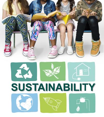 Durabilité ecology save environnement concept Banque d'images - 79319337