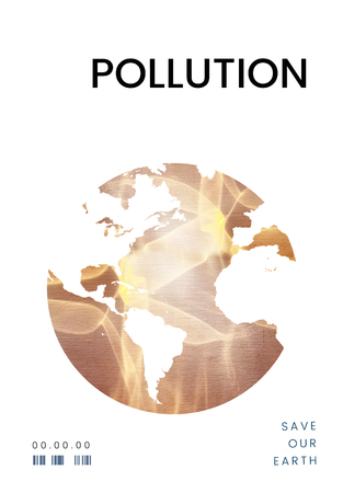 Global environment ecology pollution graphic Banco de Imagens