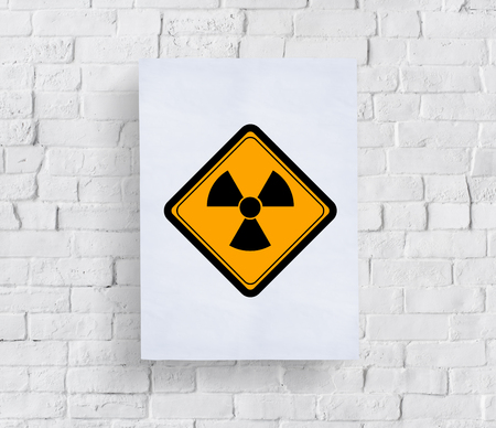 Propeller Sign Attention Banner Put in Concrete Wall