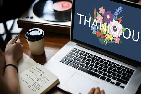 Thank You Appreciation Greatful Happy Stock Photo