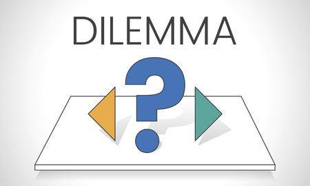 Dilemma verwarring kiezen besluitvorming
