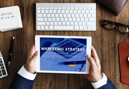 tactics: Marketing Strategy Business Analysis Concept Stock Photo