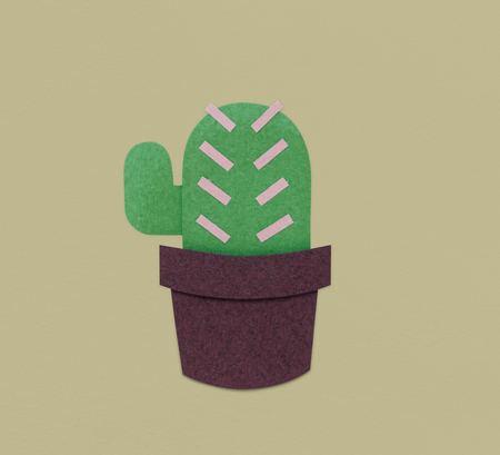 Cactus Plant Flower Icon Illustration Stok Fotoğraf