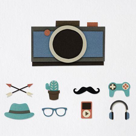 流行に敏感な趣味活動アイコン各種 写真素材