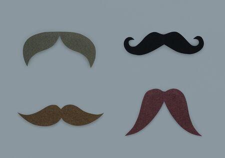 髭顔の毛アイコン シンボル