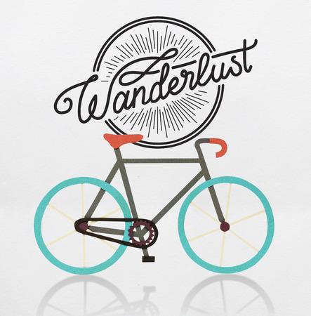 Graphic of biking hobby trend Stock Photo
