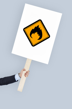 be alert: Flammable Sign Caution Warning Sign Symbol