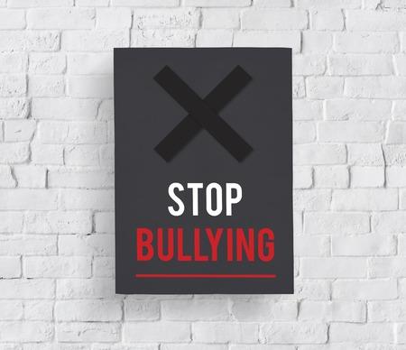 Icono de Problemas sociales para detener la intimidación Foto de archivo - 79309572