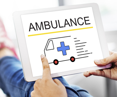 Ambulance Accidental Emergency Urgent Situation Stock Photo