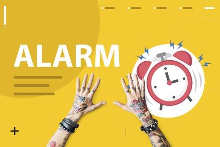 Afbeelding van het instrument van de tijd wekker kloppen voor wakker worden