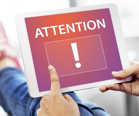 Exclamation mark attention publication announcement graphic Stock fotó