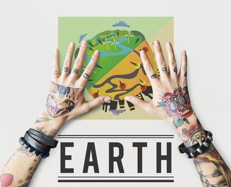 사람들 글로벌 지구 환경 그래픽