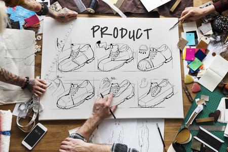 Dessin de dessin animé de la procédure de la chaussure Banque d'images - 79320029