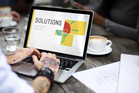 ソリューションの創造的なアイデアの知性の概念 写真素材