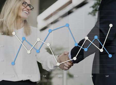 グラフ データを集計解析アイコン グラフィック 写真素材
