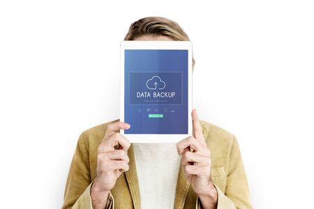 Cloud Network Data Backup Concept Stock Photo
