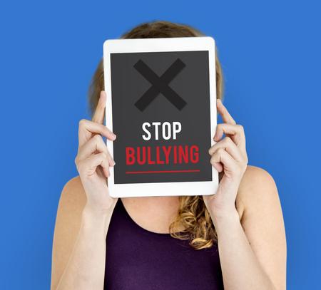 Icono de Problemas sociales para detener la intimidación Foto de archivo - 79398992