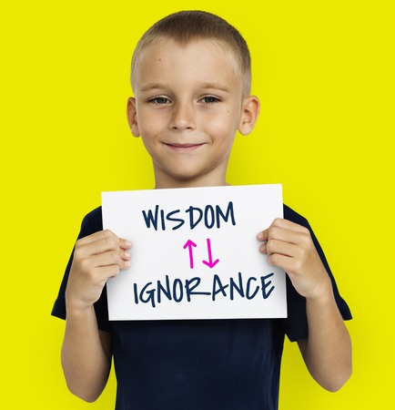 Proficiency Antonyms Wisdom Ignorance Illustration Stock Photo
