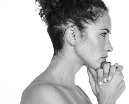 Portrait Studio Woman Female Model Stock fotó