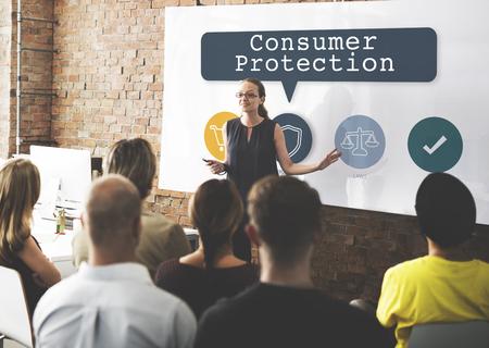 Verbraucherschutzverordnung Konzept Standard-Bild - 79378493