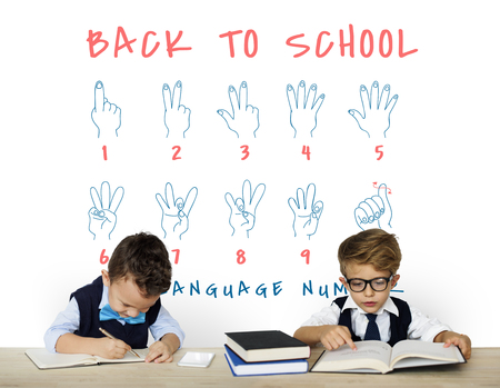 Back to School Education Hand Sign Communication