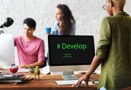 diversity domain: Web Design Coding Program Content Graphic Stock Photo