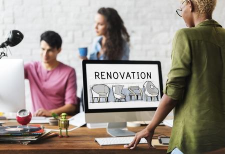 Renovation Design New Product Development Concept Sketch Stock Photo