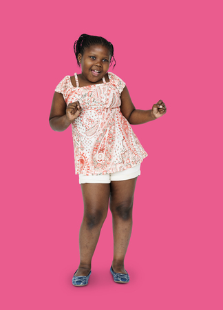 Little african girl having fun and dancing Reklamní fotografie
