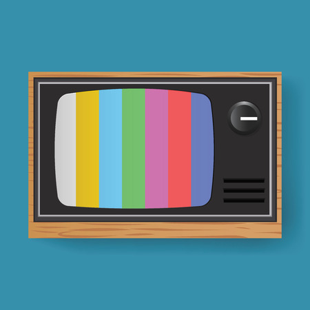 Retro Television TV Entertainment Media Icon Illustration Vector Ilustrace
