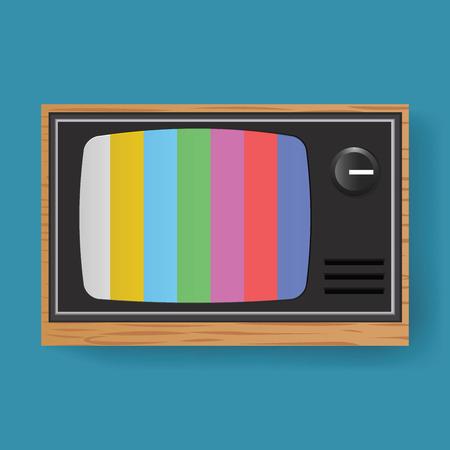 Retro Television TV Entertainment Media Icon Illustration Vector Illusztráció