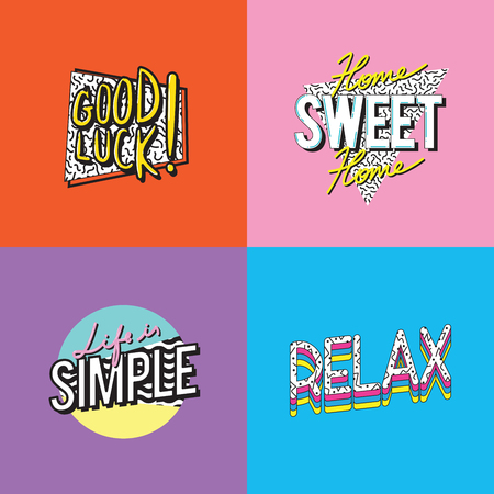 Simple Lifestyle Passion Word Graphic Illustration