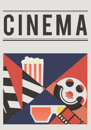 Cinema-film industrie media-entertainment samenstelling