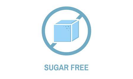 砂糖無料の健康的なライフ スタイルのコンセプト