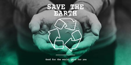 conservative: Recycle icon eco friendly green Stock Photo