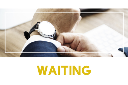 organise: Waiting Time Business Meeting Concept