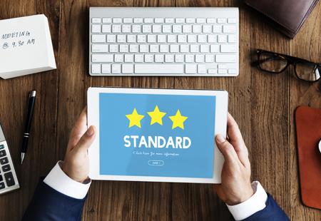 Qualitätsgarantie-Qualitätssicherungskonzept Standard-Bild - 79726762