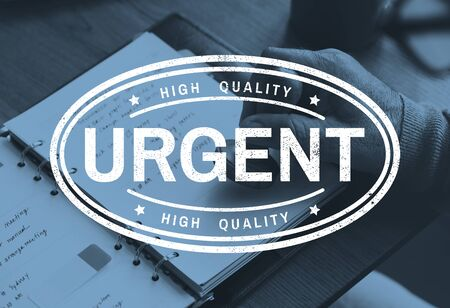 Urgent label icon stamping for verified Banco de Imagens - 79726788