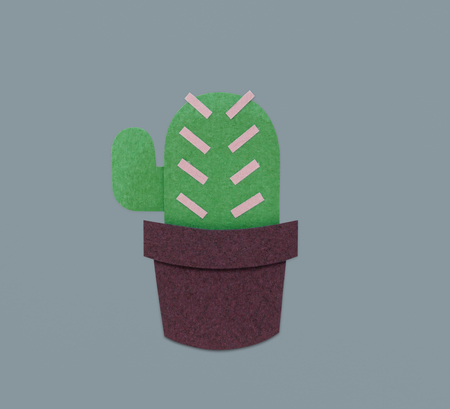 선인장 houseplant 만화 아이콘 그래픽